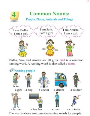 1st Grade Grammar Common Nouns 1