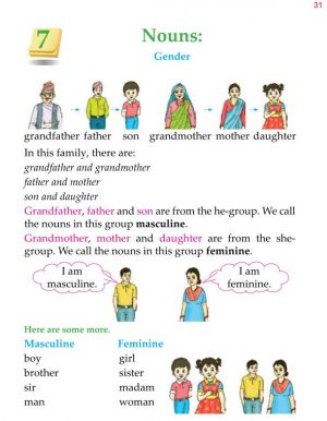 1st Grade Grammar Nouns Gender 1
