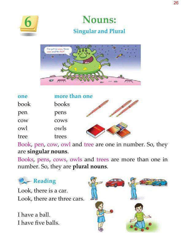 1st Grade Grammar Nouns Singular and Plural 1