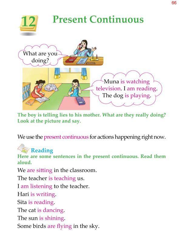 1st Grade Grammar Present Continuous 1
