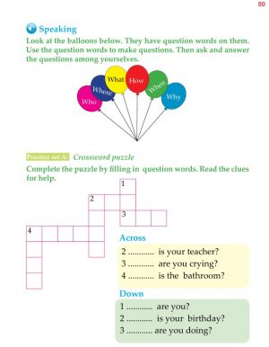 1st Grade Grammar Questions and Statements 2