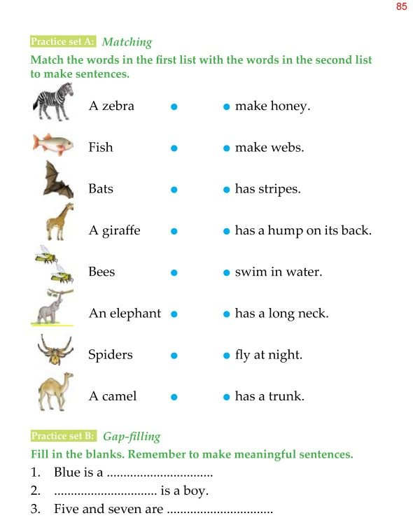1st Grade Grammar Sentences 4