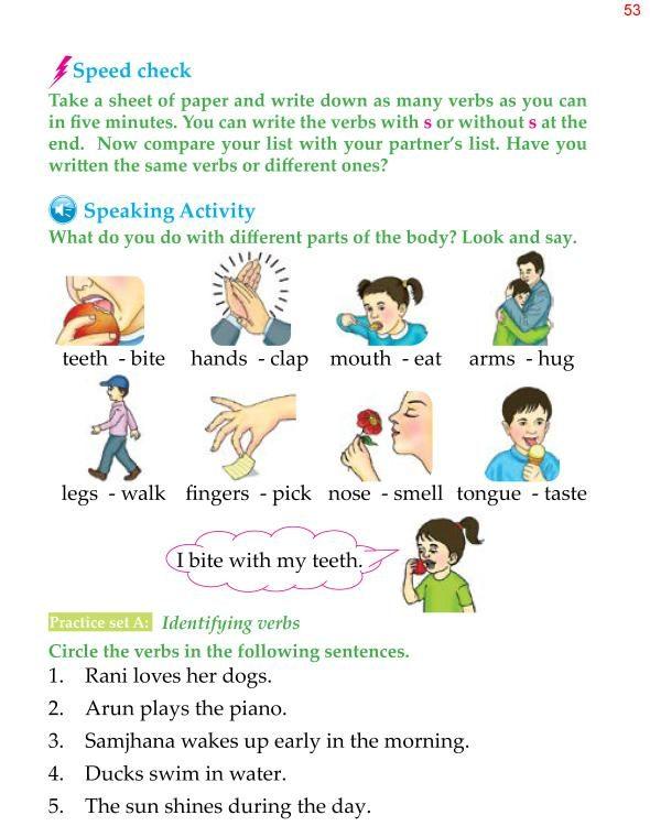 1st Grade Grammar Verbs 5