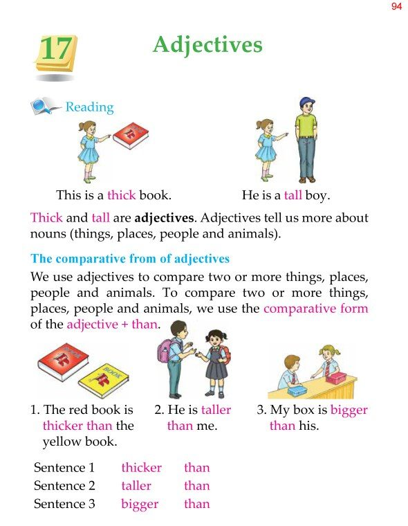 2nd Grade Grammar Adjectives