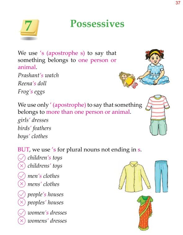 2nd Grade Grammar Possessives