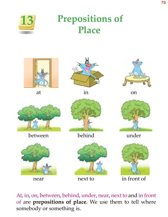 2nd Grade Grammar Prepositions of Place