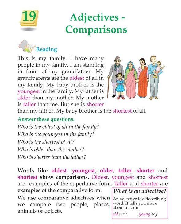 3rd Grade Grammar Comparison of Adjectives