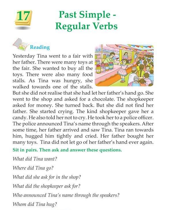 3rd Grade Grammar Past Simple Regular Verbs