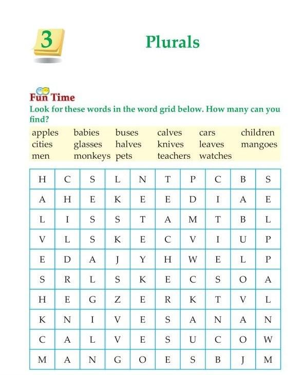 3rd Grade Grammar Plurals