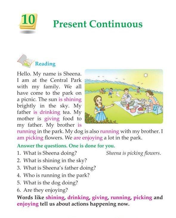 3rd Grade Grammar Present Continuous