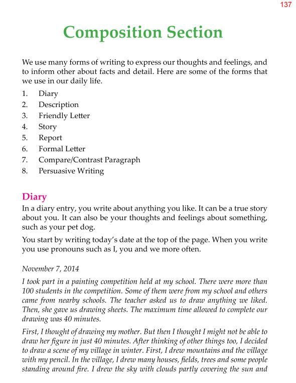 4th Grade Grammar Unit 17 Composition Writing 1