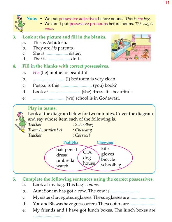 4th Grade Grammar Possessives