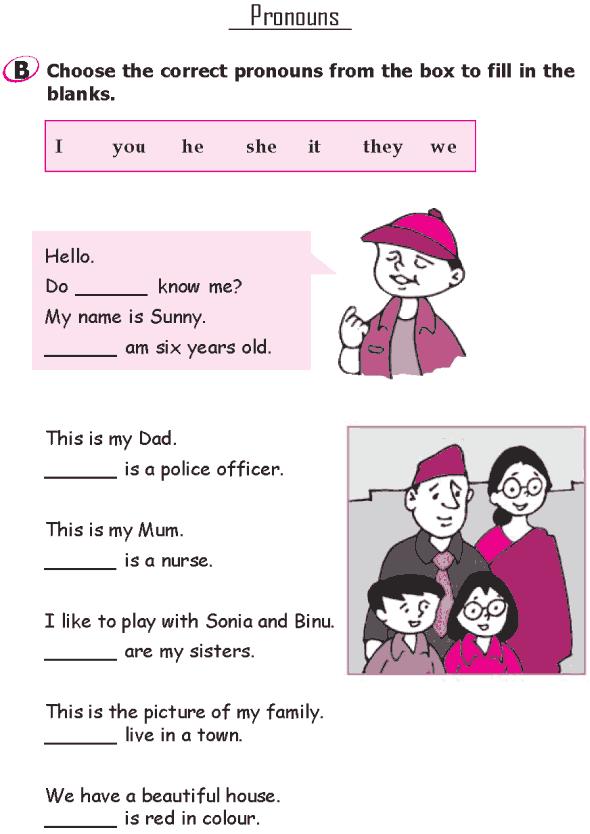 Grade 1 Grammar Lesson 11 Pronouns (2)