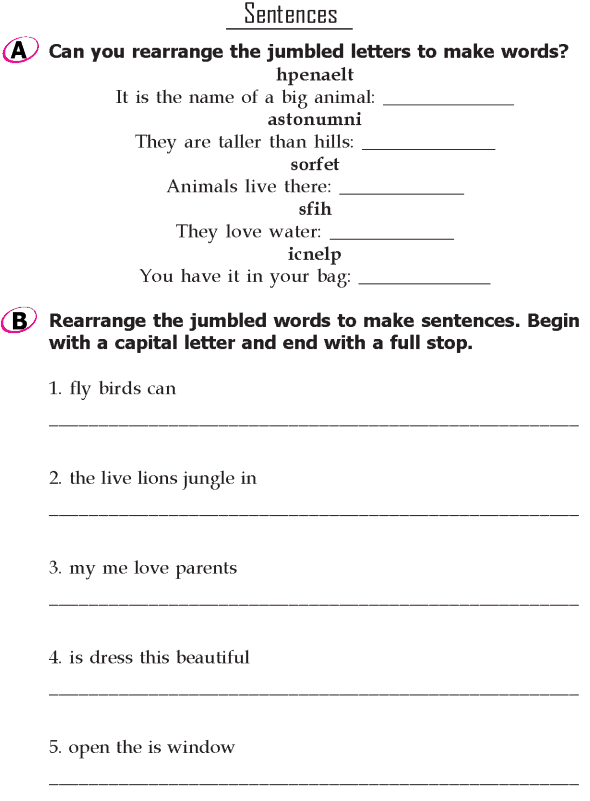 Grade 1 Grammar Lesson 18 Sentences (1)