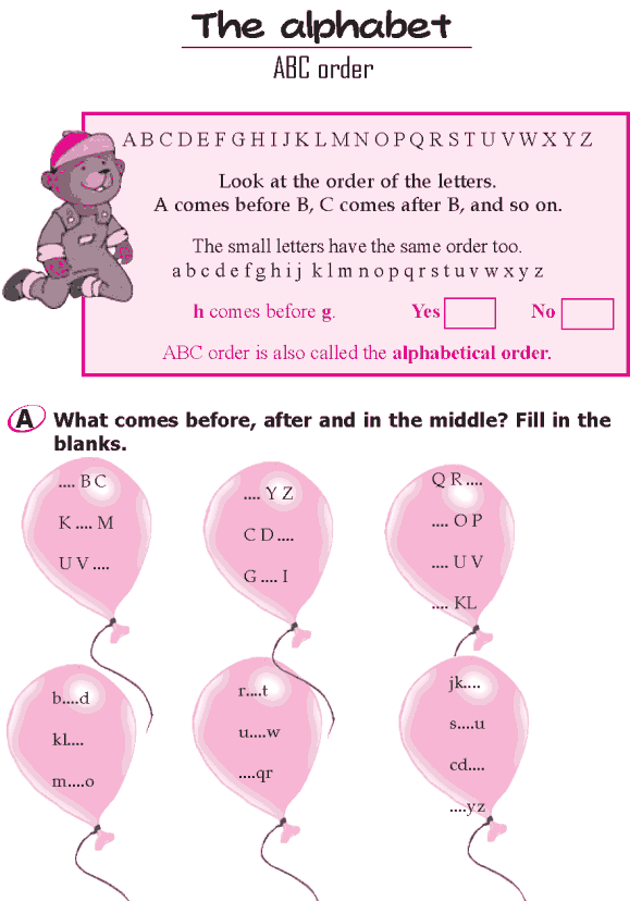 Grade 1 Grammar Lesson 2 The alphabet - ABC order (0