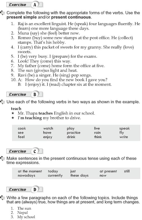 Grade 10 Grammar Lesson 1 Present simple and present continuous (2)