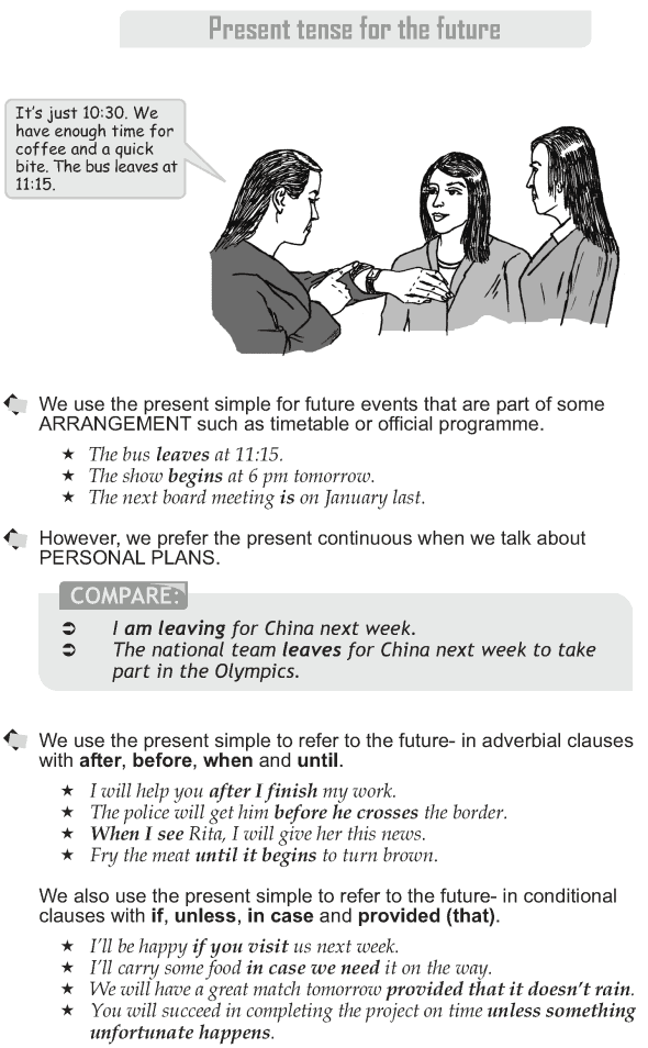 Grade 10 Grammar Lesson 12 Present tense for the future (1)