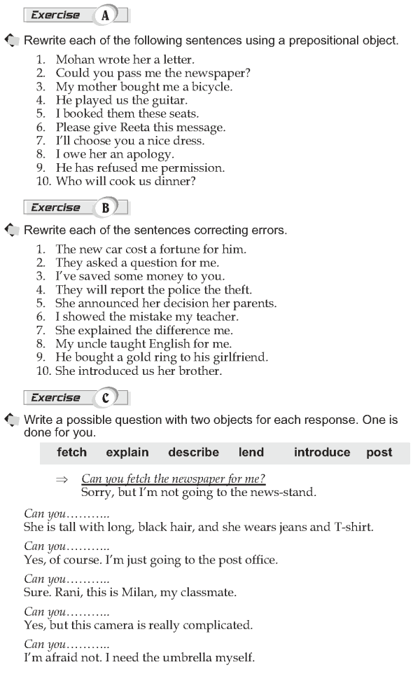 Grade 10 Grammar Lesson 16 Verbs with double objects (2)
