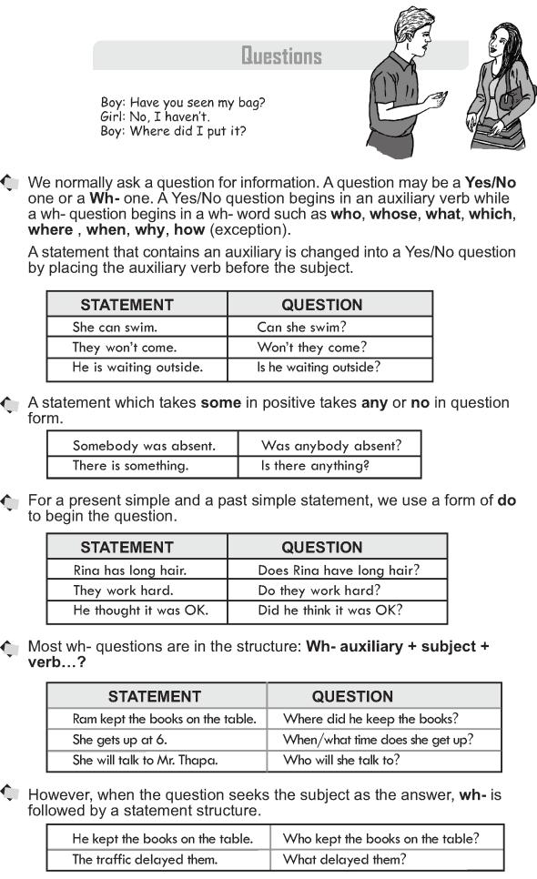 Grade 10 Grammar Lesson 18 Questions