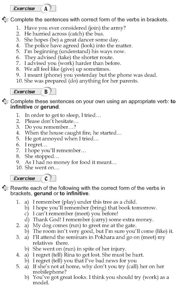 Grade 10 Grammar Lesson 22 Verbs followed by infinitives and gerund (2)