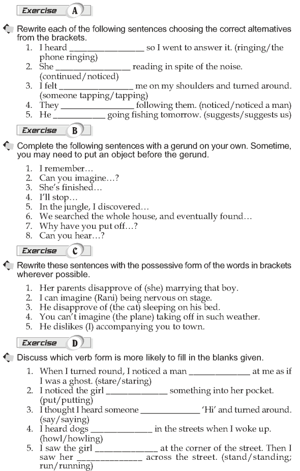 Grade 10 Grammar Lesson 23 Verbs followed by a gerund (2)
