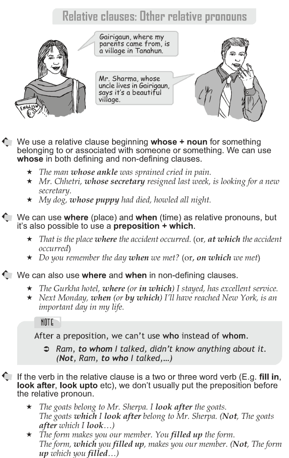 Grade 10 Grammar Lesson 32 Relative clauses: Other relative pronouns