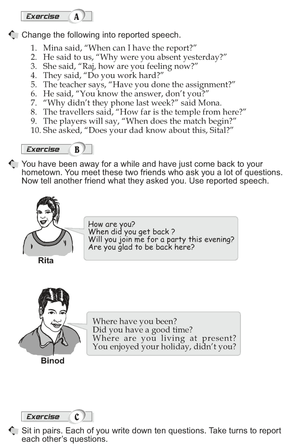Grade 10 Grammar Lesson 36 Reporting questions (2)