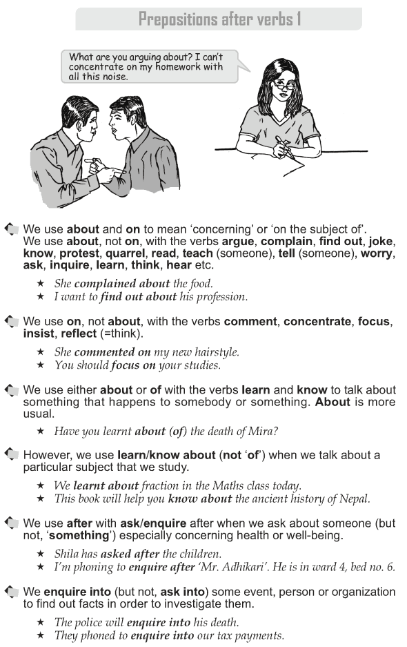 Grade 10 Grammar Lesson 43 Prepositions after verbs (1)