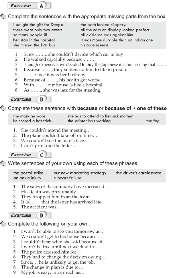 Grade 10 Grammar Lesson 46 Adverbial clauses Reasons (2)