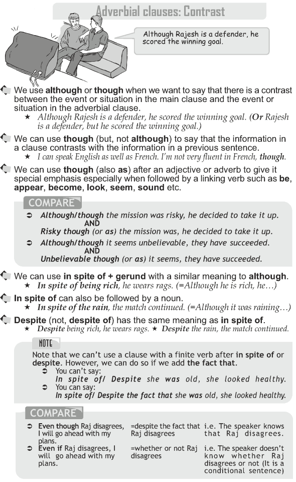 Grade 10 Grammar Lesson 48 Adverbial clauses: Contrast