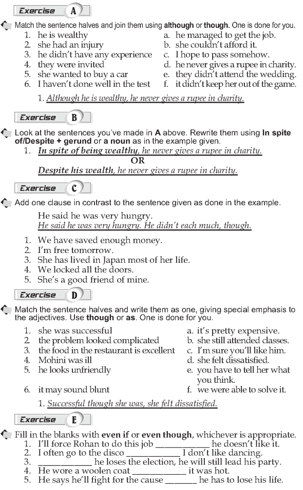 Grade 10 Grammar Lesson 48 Adverbial clauses Contrast (2)