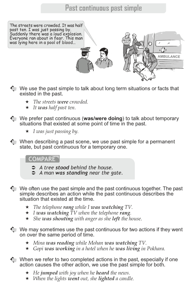 Grade 10 Grammar Lesson 6 Past continous and past simple  (1)
