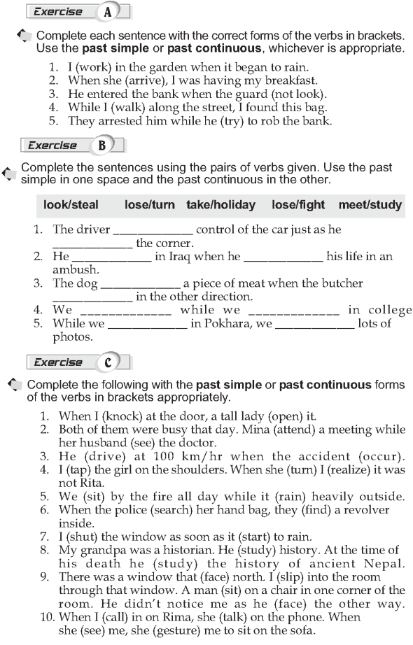 Grade 10 Grammar Lesson 6 Past continous and past simple (2)