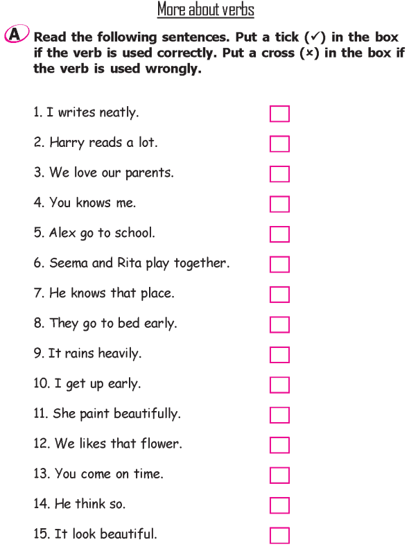 Grade 2 Grammar Lesson 12 More about verbs (2)