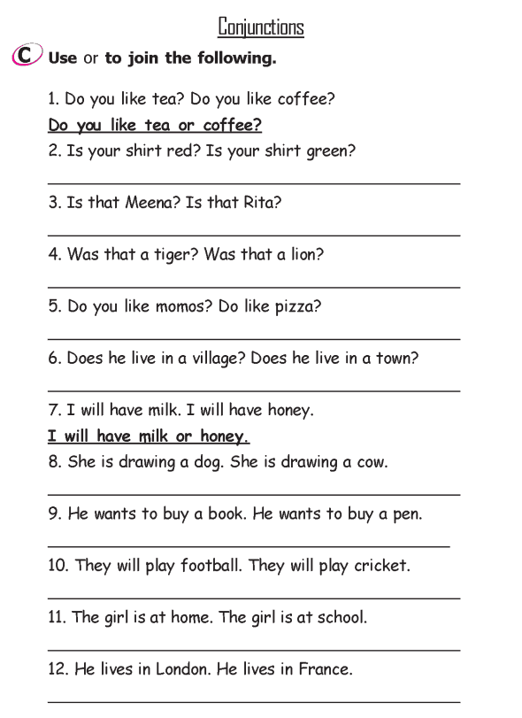 Grade 2 Grammar Lesson 15 Conjunctions (3)