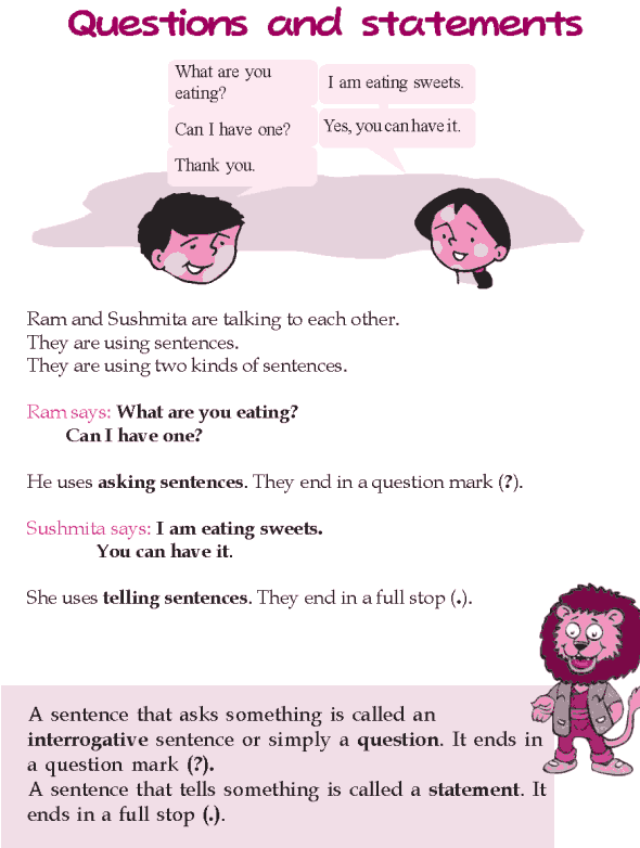 Grade 2 Grammar Lesson 19 Questions and statements
