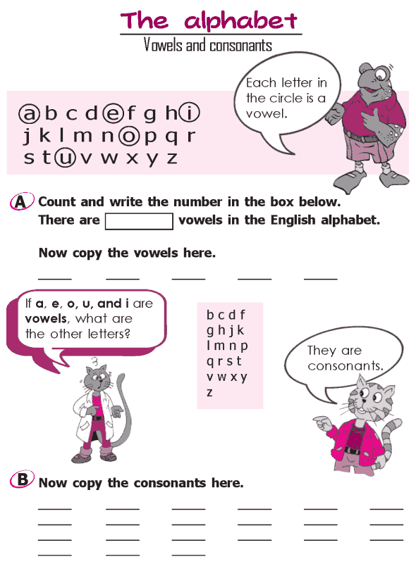 Grade 2 Grammar Lesson 2 The alphabet - Vowels and consonants