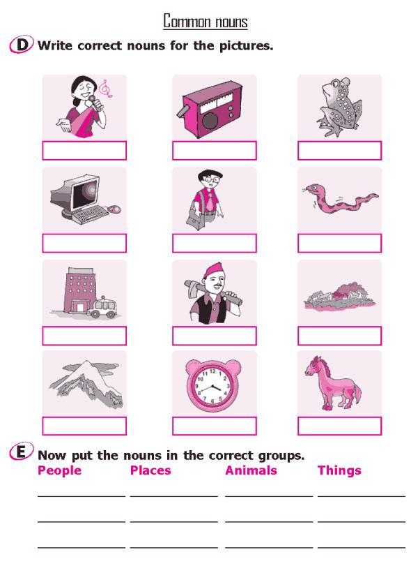 Grade 2 Grammar Lesson 4 Nouns - Common nouns (3)