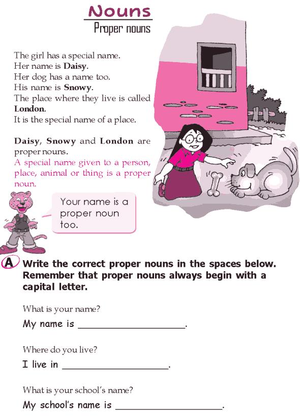 Grade 2 Grammar Lesson 5 Nouns - Proper nouns