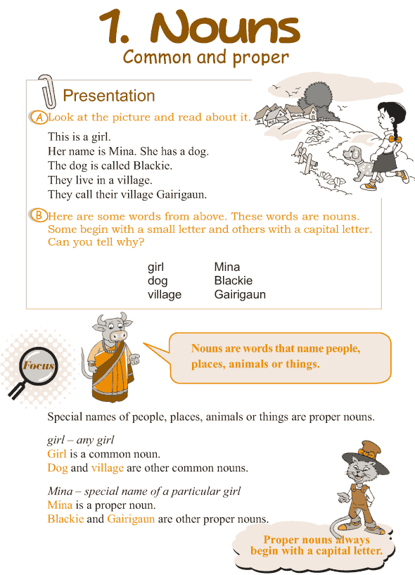 Grade 3 Grammar Lesson 1 Nouns - common and proper