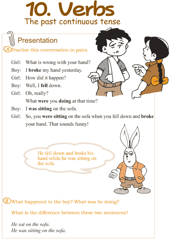 Grade 3 Grammar Lesson 10 Verbs - the past continuous tense (1)