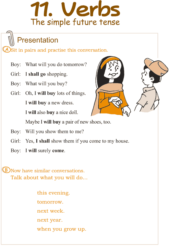 Grade 3 Grammar Lesson 11 Verbs - the simple future tense (1)