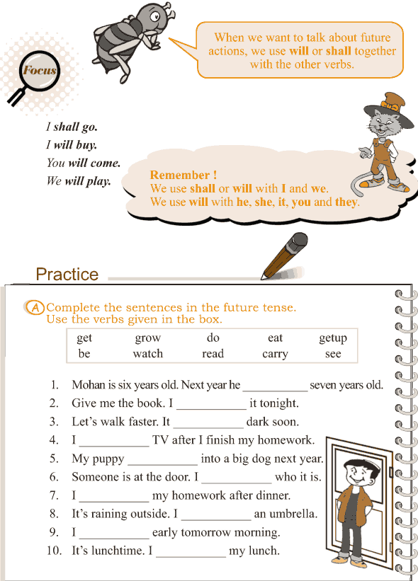 Grade 3 Grammar Lesson 11 Verbs - the simple future tense (2)