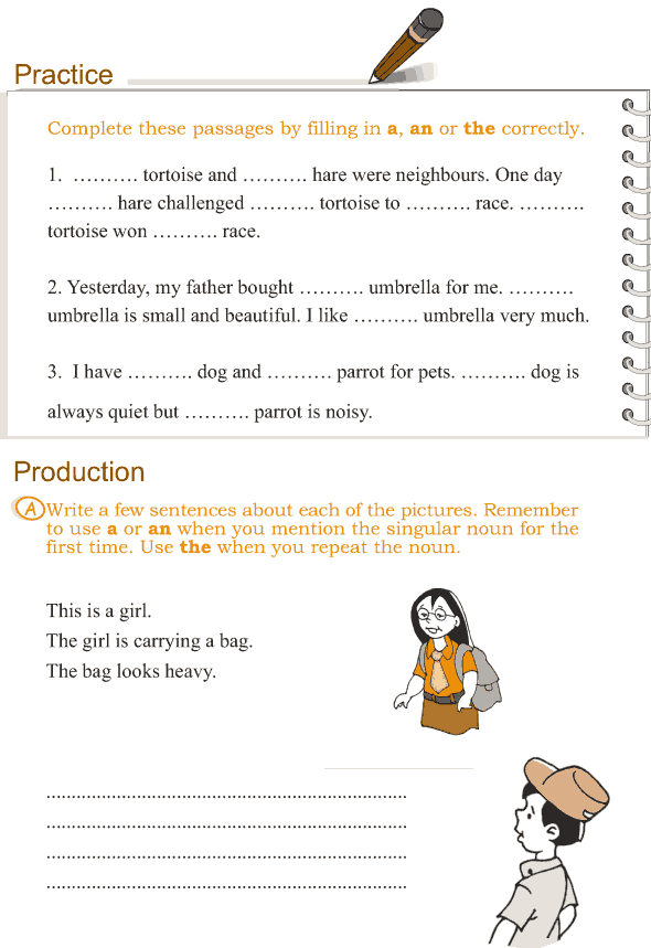 Grade 3 Grammar Lesson 12 Articles (2)