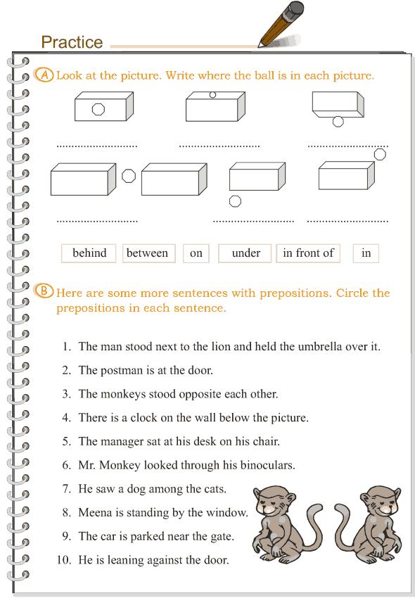 Grade 3 Grammar Lesson 13 Prepositions (2)