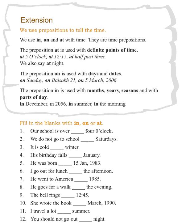 Grade 3 Grammar Lesson 13 Prepositions (4)
