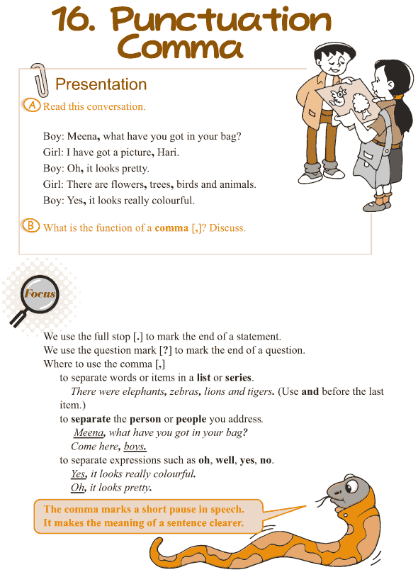 Grade 3 Grammar Lesson 16 Punctuation – comma