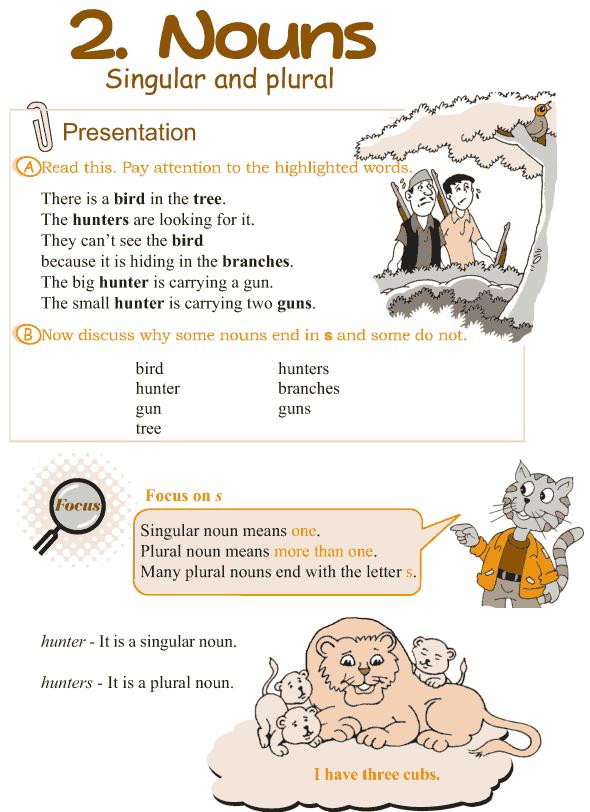 Grade 3 Grammar Lesson 2 Nouns - singular and plural