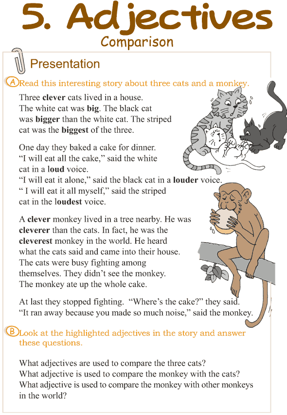 Grade 3 Grammar Lesson 5 Adjectives - comparison