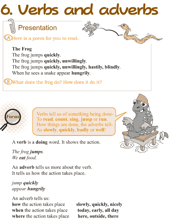 Grade 3 Grammar Lesson 6 Verbs and adverbs